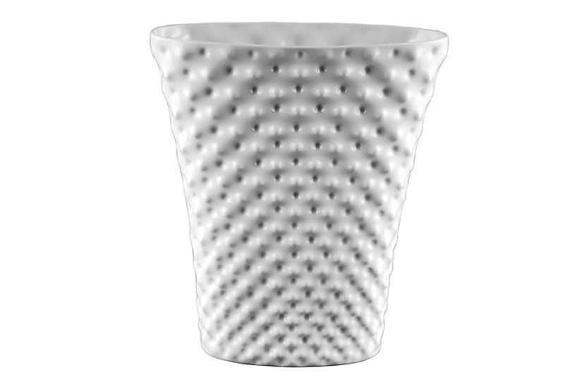 Vibrations - Vaso Bianco smaltato h 32 ovale