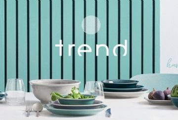 Piatto fondo cm. 22 Trend Moon grey